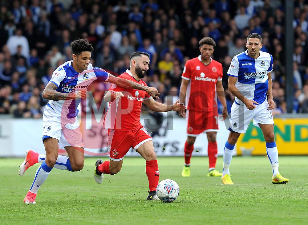 Daniel Leadbitter of Bristol Rovers is challenged by Erhun Oztumer of Walsall - Mandatory by-line: Neil Brookman/JMP - 09/09/2017 - FOOTBALL - Memorial Stadium - Bristol, England - Bristol Rovers v Walsall - Sky Bet League One