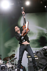 Stefan Olsdal of Placebo on the main stage..T in the Park, Sunday 2006..©Michael Schofield..
