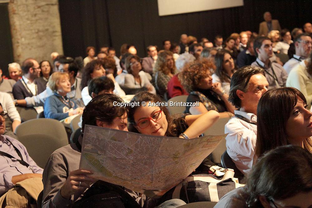 """Firenze, 26 Ottobre 2013. Leopolda 2013 """" Dai un nome al tuo futuro"""" è il motto dell'evento voluto da Matteo Renzi per parlare del futuro dell'Italia presso la Stazione Leopolda a Firenze. Giornata dedicata a interventi di quattro minuti."""