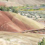 Painted Hills at John Day Fossil Beds National Monument. Mitchel, Oregon.