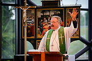 The Rev. Dr. Matthew Harrison, president of the LCMS, preaches during the Service of Installation for the Rev. Dr. Gregory P. Seltz, executive director of the Lutheran Center for Religious Liberty, at the International Center of The Lutheran Church–Missouri Synod on Tuesday, Aug. 22, 2017, in St. Louis. LCMS Communications/Erik M. Lunsford