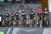 Team Ineos on stage ahead of the start of the first stage of the Tour de Yorkshire from Doncaster to Selby, Doncaster, United Kingdom on 2 May 2019.