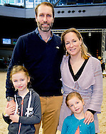 AMSTERDAM - 31-1-2016 - Princess Margarita de Bourbon de Parme and Tjalling ten Cate and Julia (l)  en Paola right  . during Jumping Amsterdam, an international equestrian event with World Cup dressage and jumping competitions, in the RAI in Amsterdam.  copyright robin utrecht <br /> Prinses Margarita de Bourbon de Parme en Tjalling ten Cate en Julia (l) en Paola rechts. tijdens Jumping Amsterdam, een internationale hippische evenement met World Cup dressuur en springen wedstrijden, in de RAI in Amsterdam.