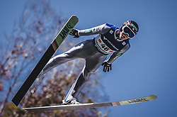 30.09.2018, Energie AG Skisprung Arena, Hinzenbach, AUT, FIS Ski Sprung, Sommer Grand Prix, Hinzenbach, im Bild Ryoyu Kobayashi (JPN) // Ryoyu Kobayashi of Japanduring FIS Ski Jumping Summer Grand Prix at the Energie AG Skisprung Arena, Hinzenbach, Austria on 2018/09/30. EXPA Pictures © 2018, PhotoCredit: EXPA/ Stefanie Oberhauser