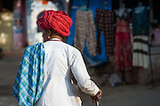 Rajasthani man with red turban (India)