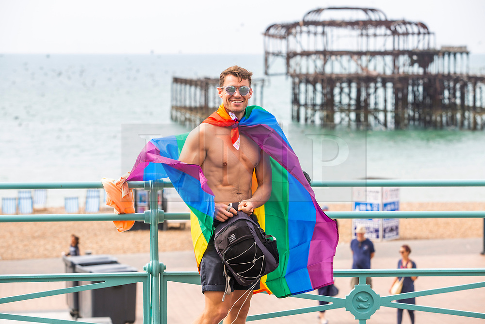 © Hugo Michiels Photography. 03/08/2019. Brighton, UK. Thousands of members of the LGBTQ community take part in the 2019 Brighton Pride parade. Over 160,000 visitors will take to the seaside resort for the annual Pride event. Photo credit: Hugo Michiels