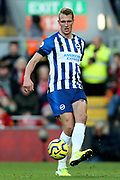 Brighton and Hove Albion defender Dan Burn (33) during the Premier League match between Liverpool and Brighton and Hove Albion at Anfield, Liverpool, England on 30 November 2019.