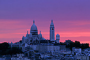 Basilica of Sacre Coeur, Montmartre, Paris, France