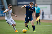 14th September 2019; Dens Park, Dundee, Scotland; Scottish Championship, Dundee Football Club versus Alloa Athletic; Josh Todd of Dundee runs at Iain Flannigan of Alloa Athletic