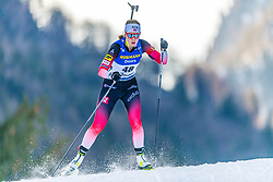 15.01.2020, Chiemgau Arena, Ruhpolding, GER, IBU Weltcup Biathlon, Sprint, Damen, im Bild Karoline Offigstad Knotten (NOR) // Karoline Offigstad Knotten of Norway during the women sprint competition of BMW IBU Biathlon World Cup at the Chiemgau Arena in Ruhpolding, Germany on 2020/01/15. EXPA Pictures © 2020, PhotoCredit: EXPA/ Stefan Adelsberger