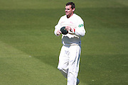 Leicestershire bowler Clint McKay during the Specsavers County Champ Div 2 match between Sussex County Cricket Club and Leicestershire County Cricket Club at the 1st Central County Ground, Hove, United Kingdom on 1 May 2016. Photo by Bennett Dean.