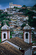 Ouro Preto. In the back St Ifigenia church.