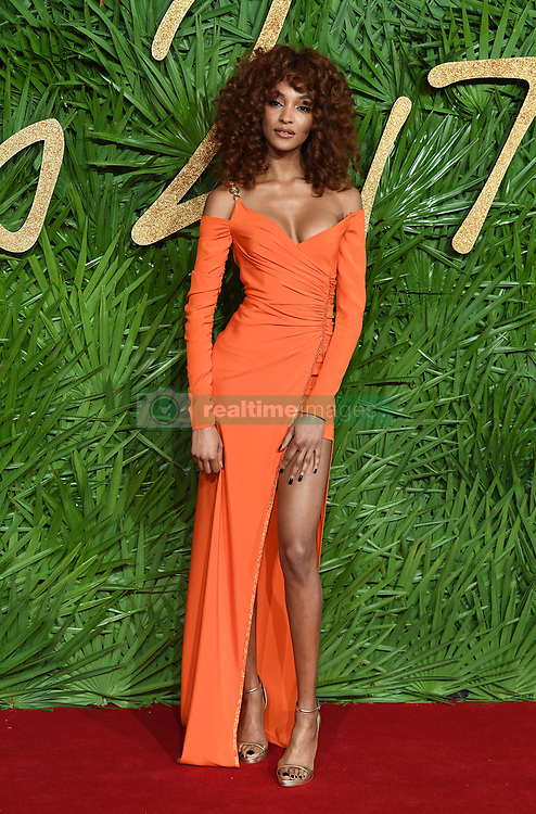 Jourdan Dunn attending the Fashion Awards 2017, in partnership with Swarovski, held at the Royal Albert Hall, London. Picture Credit Should Read: Doug Peters/ EMPICS Entertainment