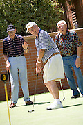 Senior Men Playing Golf