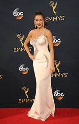 Sofia Vergara at the 68th Annual Primetime Emmy Awards held at the Microsoft Theater in Los Angeles, USA on September 18, 2016.