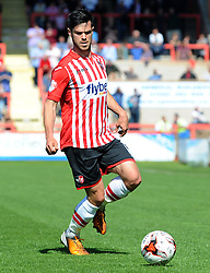 Exeter City's Jimmy Keohane - Photo mandatory by-line: Harry Trump/JMP - Mobile: 07966 386802 - 18/04/15 - SPORT - FOOTBALL - Sky Bet League Two - Exeter City v Southend United - St James Park, Exeter, England.