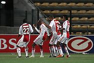 CAPE TOWN, SOUTH AFRICA - 11 FEBRUARY 2011, Ajax Cape Town celebrate their second goal during the Absa Premiership match between Santos and Ajax Cape Town held at Athlone Stadium in Cape Town, South Africa..Photo by: Shaun Roy/Sportzpics