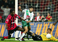 Fotball<br /> Tyskland Bundesliga 2004/05<br /> DFB-Pokal - andre runde<br /> Werder Bremen v Bayer Leverkusen<br /> 22. september 2004<br /> Foto: Digitalsport<br /> NORWAY ONLY<br /> Tor 2:1 v.l. ROQUE JUNIOR, Torschütze Nelson Haedo VALDEZ Bremen, TW Jürg BUTT
