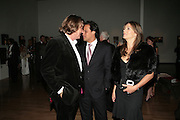 Theo Fennell,  Arun Nayar and Elizabeth Hurley, ' Show Off' Theo Fennell exhibition co-hosted wit Vanity Fair. Royal Academy. Burlington Gdns. London. 27 September 2007. -DO NOT ARCHIVE-© Copyright Photograph by Dafydd Jones. 248 Clapham Rd. London SW9 0PZ. Tel 0207 820 0771. www.dafjones.com.