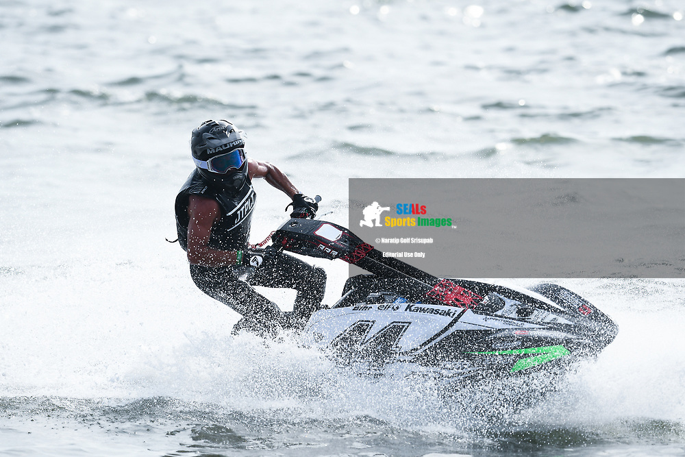 PATTAYA, THAILAND - DECEMBER 09: Ralphael Maurin of France and Pastorello Competition after winning the Pro Ski Grandprix Moto4 at the Thai Airways International Jet Ski World Cup 2018, Jomtien Beach, Pattaya, Thailand on December 09, 2018. <br /> .<br /> .<br /> .<br /> (Photo by: Naratip Golf Srisupab/SEALs Sports Images)<br /> .<br /> Any image use must include a mandatory credit line adjacent to the content which should read: Naratip Golf Srisupab/SEALs Sports Images
