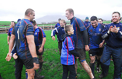 Some of the Westport players at the final whistle of the cup against Cooke RFC ...Pic Conor McKeown