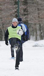 Mitja Morec of ND Mura 05 exercise during the Training on February 22, 2013 in Fazanerija, Murska Sobota, Slovenia. (Photo By Ales Cipot / Sportida.com)