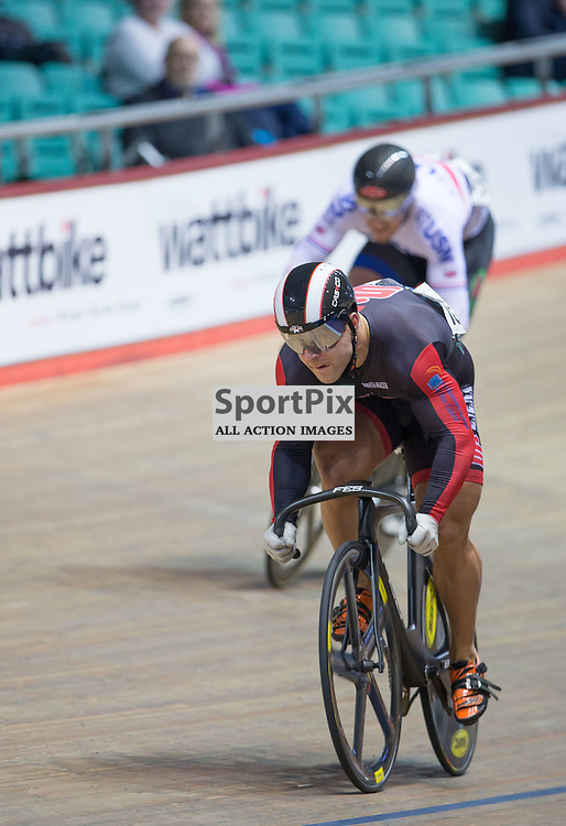 Robert Förstemann leads in the semi finals of the UCI Sprint at the Revoultion Series 2015/6 Round 5 Manchester, on 2 January 2016 ( (Photo by Mike Poole - SportPix)
