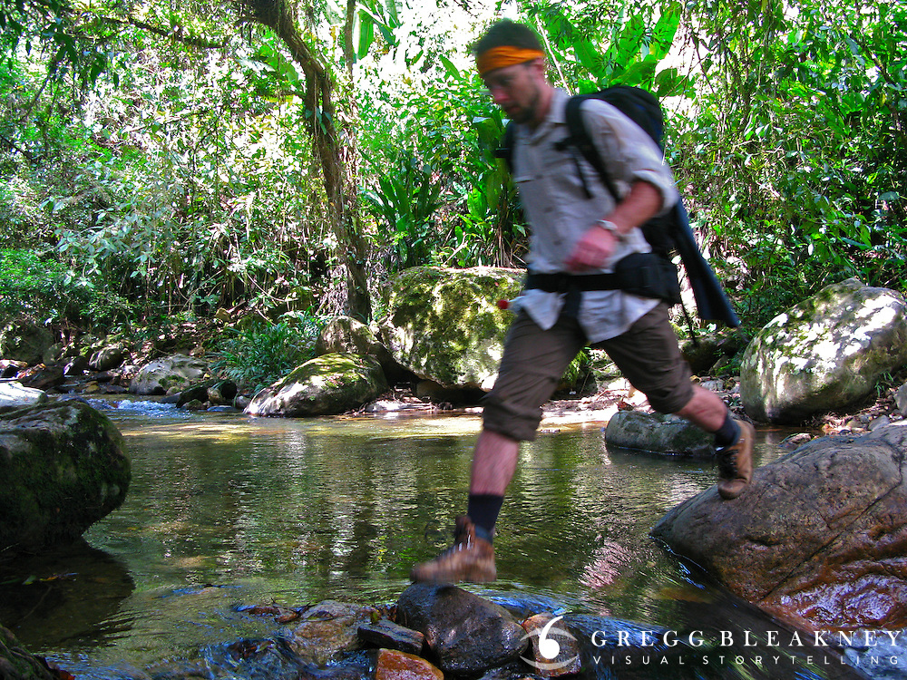 "A hiker en route to the ""Lost City"" - Ciudad Perdida Trail - Colombia"