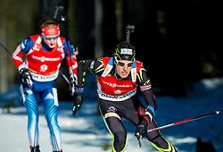 TSVETKOV Maxim (RUS) and FILLON MAILLET Quentin (FRA) competes during Men 12,5 km Pursuit at day 3 of IBU Biathlon World Cup 2014/2015 Pokljuka, on December 20, 2014 in Rudno polje, Pokljuka, Slovenia. Photo by Vid Ponikvar / Sportida