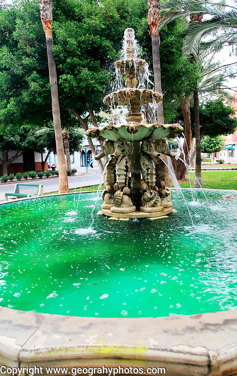 Water fountain town centre, Gran Tarajal, Fuerteventura, Canary Islands, Spain