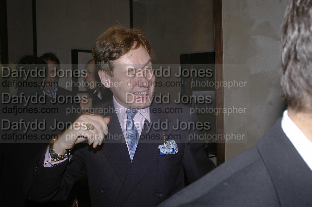 Nick Foulkes, Charles Finch and Weidenfeld and Nicolson host a party to celebrate the publication of 'Dancing Into Battle' by Nick Foulkes. The Westbury Hotel, Conduit St. London. 14 December 2006. ONE TIME USE ONLY - DO NOT ARCHIVE  © Copyright Photograph by Dafydd Jones 248 CLAPHAM PARK RD. LONDON SW90PZ.  Tel 020 7733 0108 www.dafjones.com