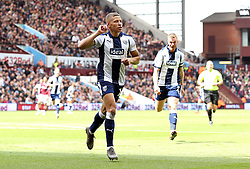 West Bromwich Albion's Dwight Gayle celebrates scoring his side's first goal of the game