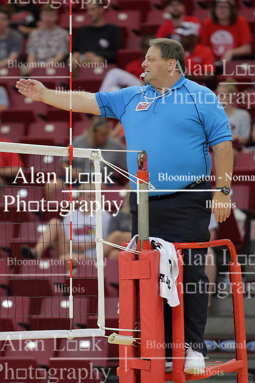 19 August 2017:  Bob Poyer during a college women's volleyball match Scrimmage of the Illinois State Redbirds at Redbird Arena in Normal IL (Photo by Alan Look)