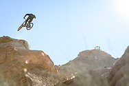 Thomas Genon during finals at Red Bull Rampage in Virgin, UT. © Brett Wilhelm
