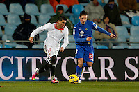 19.01.2013 SPAIN -  La Liga 12/13 Matchday 20th  match played between Getafe C.F. vs Sevilla Futbol Club (1-1) at Alfonso Perez stadium. The picture show Pablo Sarabia Garcia (Midfielder of Getafe)
