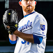 February 25, 2016: Pitcher Ian Kennedy #31 poses for a portrait during the Kansas City Royals photo day in Surprise, Ariz. (Photo by Ric Tapia/Icon Sportswire)