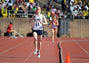 Apr 28, 2018; Philadelphia, PA, USA; Siofra Cleirigh Buttner celebrates after running the anchor leg on the Villanova women's 4 x 800m relay that won the Championship of America race in 8:19.98 during the 124th Penn Relays at Franklin Field.