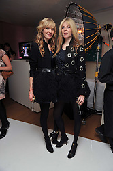 Left to right, sisters ANNETTE FELDER and DANIELLA FELDER at a party to celebrate the announcement of the 20 shortlisted designers for the UK final of the Triumph Inspiration Award 2011 held at the home of Charlotte Stockdale, 8 Francis Street, London SW1 on 31st March 2011.