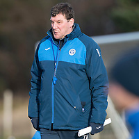 St Johnstone Training….27.12.16<br />Manager Tommy Wright pictured in training this morning at McDiarmid Park ahead of tomorrow's game against Rangers<br />Picture by Graeme Hart.<br />Copyright Perthshire Picture Agency<br />Tel: 01738 623350  Mobile: 07990 594431