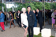 PORTIA FREEMAN; DAVID GANDY, 2009 Serpentine Gallery Summer party. Sponsored by Canvas TV. Serpentine Gallery Pavilion designed by Kazuyo Sejima and Ryue Nishizawa of SANAA. Kensington Gdns. London. 9 July 2009.