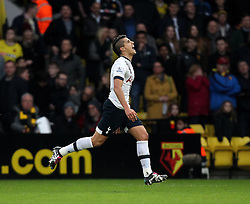 Erik Lamela of Tottenham Hotspur celebrates opening the scoring for his side - Mandatory byline: Robbie Stephenson/JMP - 07966 386802 - 28/12/2015 - FOOTBALL - Vicarage Road - Watford, England - Watford v Tottenham Hotspur - Barclays Premier League