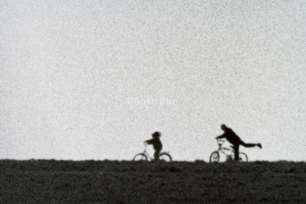 Two children in the distance playing