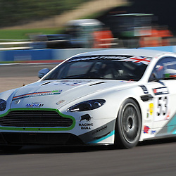 Complete Racing, Steven Chaplin &amp; Tom Wilson, Aston Martin GT4, GT4.<br /> Taken during the final round of the Avon Tyres British GT Championship held at Donington Park race track, Leicestershire on the 6th October 2013.<br /> WAYNE NEAL | SPORTPIX.ORG.UK