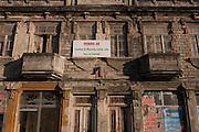 Derelict building for sale on Avenida Dr. Lourenco Peixnho, in Aveiro, Portugal.