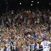 NEW YORK, NEW YORK - July 27: Yoenis Cespedes #52 of the New York Mets runs the bases to the delight of the crowd after hitting a two run home run off pitcher Adam Wainwright #50 of the St. Louis Cardinals  in the seventh inning during the St. Louis Cardinals Vs New York Mets regular season MLB game at Citi Field on July 27, 2016 in New York City. (Photo by Tim Clayton/Corbis via Getty Images)