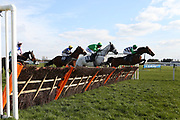CASTLETOWN (11) ridden by Thomas Wilmott and trained by Pauline Robson winning The Purvis Marquees Racing Excellence Hands & Heels Finale Handicap Hurdle Race over 2m 4f (£16,800)  during the Scottish Grand National race day at Ayr Racecourse, Ayr, Scotland on 13 April 2019.