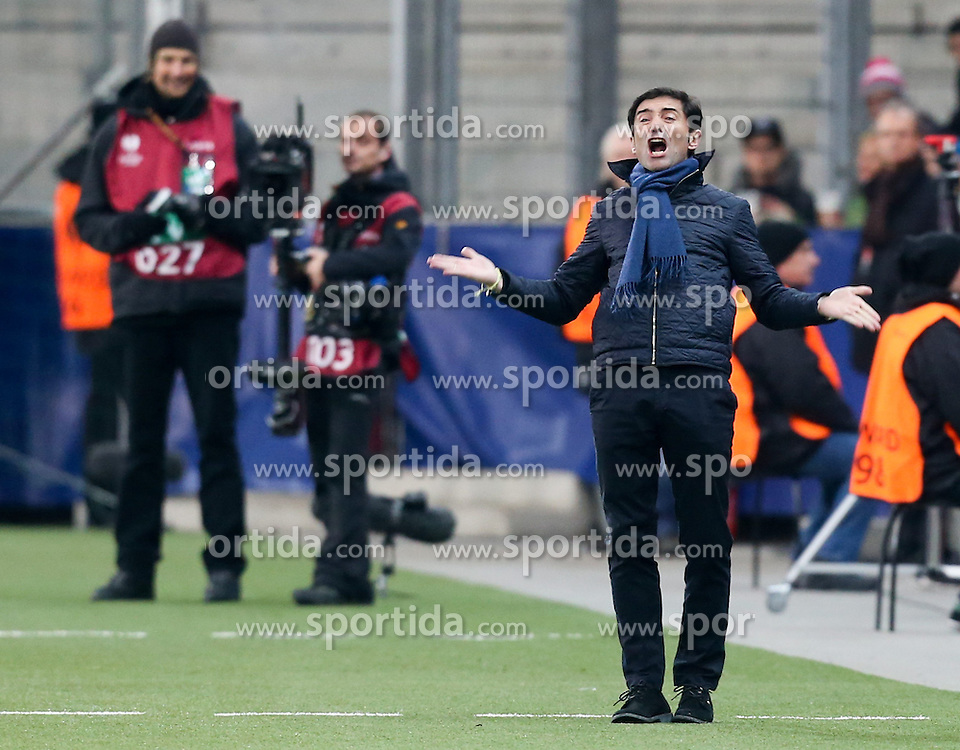 26.02.2015, Red Bull Arena, AUT, UEFA EL, FC Red Bull Salzburg vs Villareal CF, Sechzehntelfinale, Rückspiel, im Bild Marcelino, (Villareal CF)// during the UEFA Europa League round of 32, 2nd leg match between FC Red Bull Salzburg and Villareal CF at the Red Bull Arena in Salzburg, Austria on 2015/02/26. EXPA Pictures © 2015, PhotoCredit EXPA/ Roland Hackl