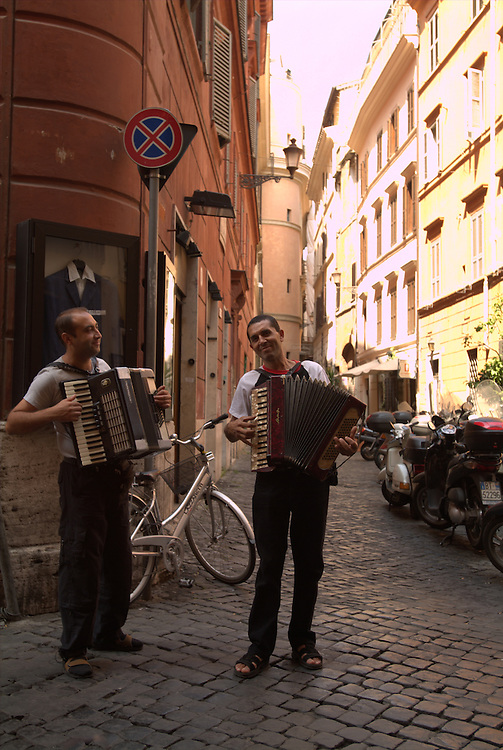 Street Musicians on streets of Rome, Italy