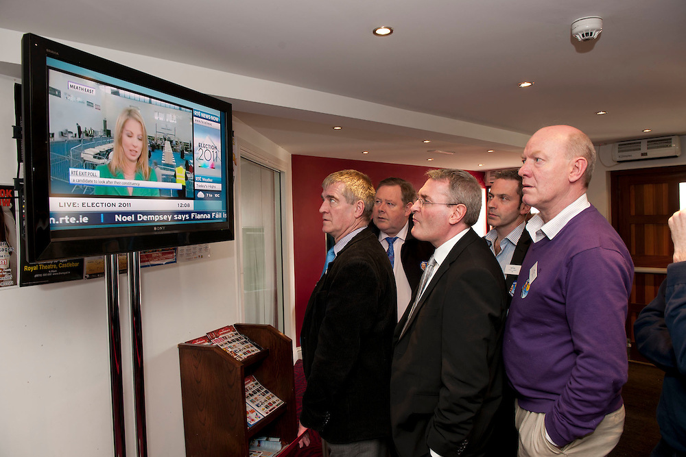 Castlebar Count Centre, tuning into the national political scene at the royal theatre castlebar, Co.Mayo..Pic: Michael Mc Laughlin