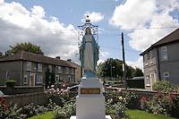 Religious Statue of Virgin Mary in a housing estate at Monkstown Farm, Dublin, Ireland